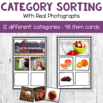 Category Sorting with Real Photographs