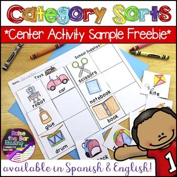 Category Sorts / Concept Sorts & Phonics Center Printables