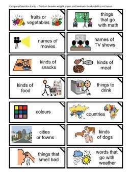 Category Word Game