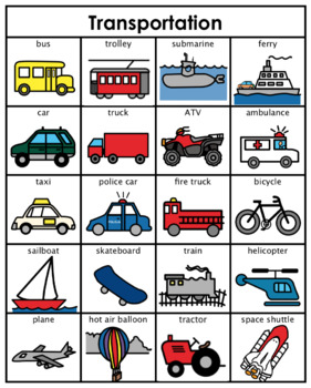 Category/Concept Boards - Transportation