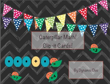 Caterpillar Clip it Math! Addition through 10