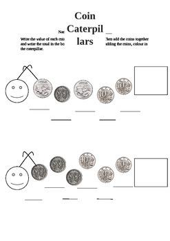 Caterpillar Coins Worksheet
