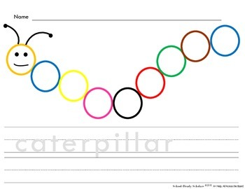 Colors - Caterpillar Printable