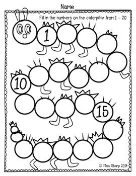 Caterpillar Count to 20
