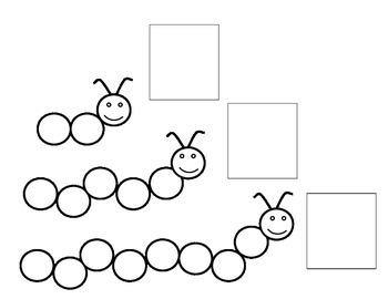 Caterpillar Counting Worksheet