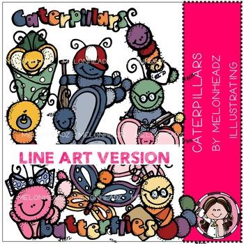 Melonheadz:Caterpillars clip art - LINE ART