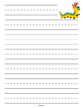 Caterpillar Lined Paper