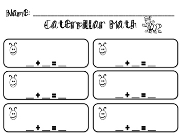Caterpillar Math  *Newly Revised*