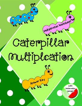 Caterpillar Multiplication Worksheet