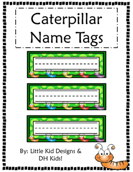 Caterpillar Name Tags - Printable Name Tags