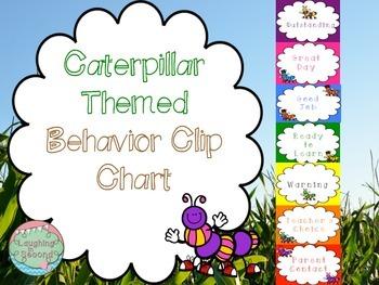 Caterpillar Themed Behavior Clip Chart