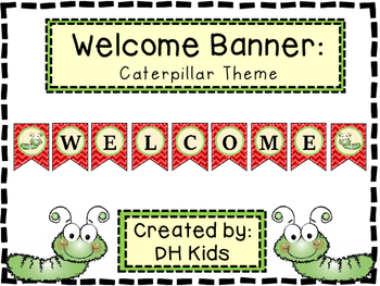 Caterpillar Welcome Banner
