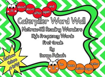 Caterpillar Word Wall-McGraw Hill Reading Wonders First Grade