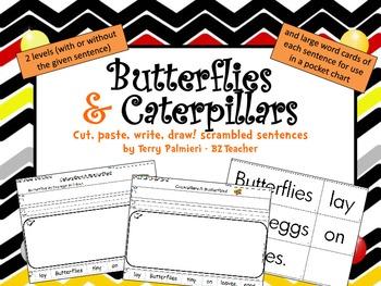 Butterflies & Caterpillars ~ Cut, Paste, Write, Draw! Scra