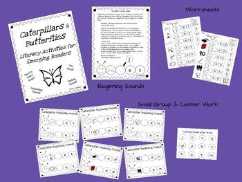 Caterpillars and Butterflies: Short e CVC Activities for E