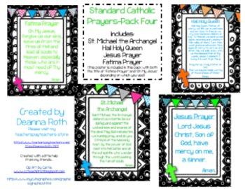 Catholic Prayer Posters--Pack Four