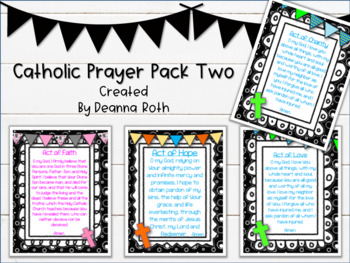 Catholic Prayer Posters--Pack Two