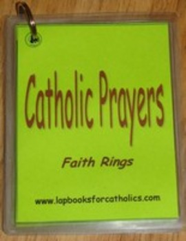 Catholic Prayers Faith Ring Flashcards
