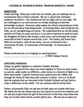 Catholic Schools' Week 2015 Prayer Service / Mass