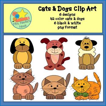 Cats & Dogs Clip Art