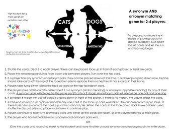 Cats & Dogs - Synonyms & Antonyms