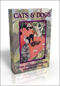 Cats & Dogs public domain DVD - over 700 images!