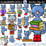 Cats In The Classroom #2 Clip Art (48 graphics) Whimsy Wor