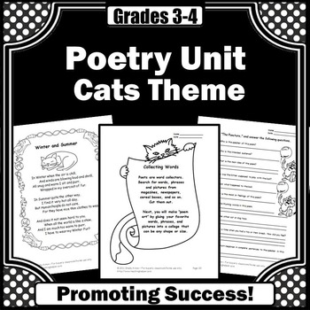 cat poetry writing for kids worksheets