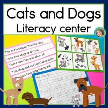 Cats and Dogs Sentence Picture Match
