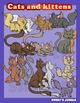 Cats and kittens clip art set