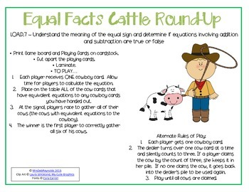 Cattle Round-Up _ Understanding the Meaning of the Equal Sign