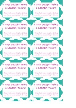 Caught Being a Leader Badges