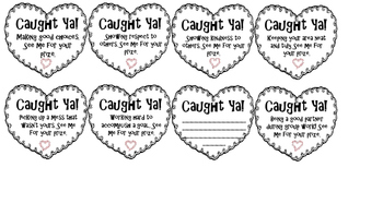 Caught Ya Cards! Instant Positive Behavior Reward Cards