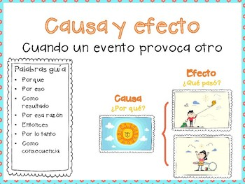 Causa y efecto poster-cause and effect