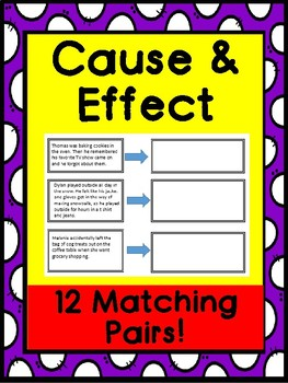 Cause and Effect Practice Sheet