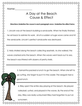 Cause and Effect: A Scavenger Hunt