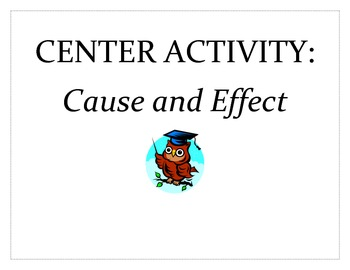 Cause and Effect Activity