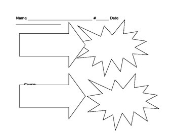 Cause and Effect Blank Worksheet