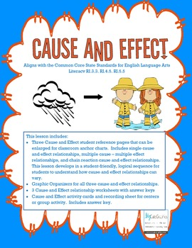 Cause and Effect - Common Core Aligned