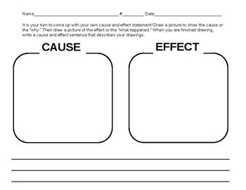 Cause and Effect Drawing Worksheet