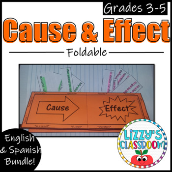 Cause and Effect Foldable- English and Spanish Bundle!