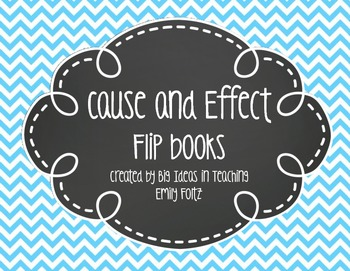 Cause and Effect Foldable Flap Book...FREEBIE!