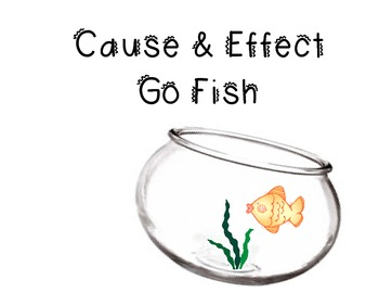 Cause and Effect Go Fish file folder