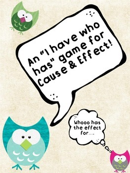 """Cause and Effect """"I Have Who Has"""" Game!"""