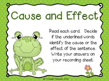 Cause and Effect Literacy Activity - Free