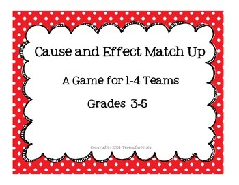 Cause and Effect Match Up
