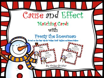 Cause and Effect Matching Cards with Frosty the Snowman