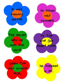 Cause and Effect Matching Flowers Game