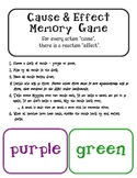 Cause and Effect Memory / Matching Game