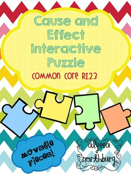 Cause and Effect Puzzle ~INTERACTIVE GOOGLE CLASSROOM~ Ble